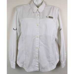 Columbia Sportswear Vented Fishing White Shirt